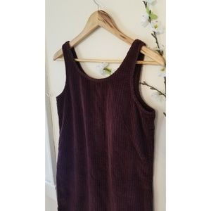 Vintage 90s | VTG Talbots Corduroy Jumper Dress